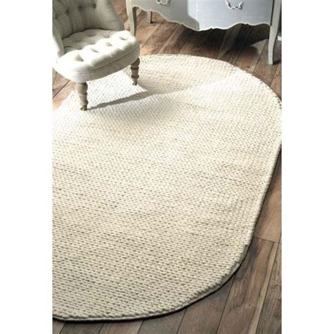 Cable Rug by Nuloom 8 X 10 Woven Chunky Woolen Cable Rug In