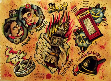 tattoo flash london the clash tattoos t a t t o o pinterest london the