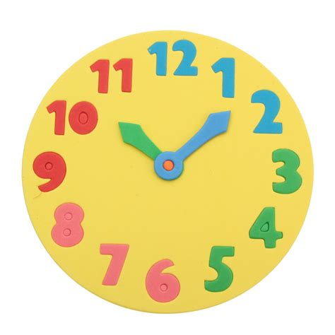 printable clock puzzle foam number puzzle clock 18cm early learning time jigsaw