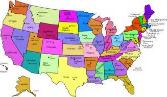 Unite State Map by Clipart United States Map With Capitals And State Names