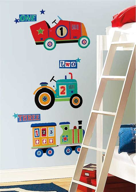 wandtattoo kinderzimmer traktor auto roommates wandsticker traktor lokomotive auto kinderzimmer