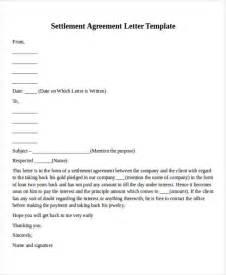 settlement agreement letter template doc 575709 agreement letters letter of agreement form