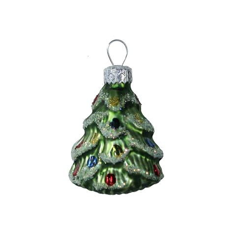 matte green christmas tree ornament poland