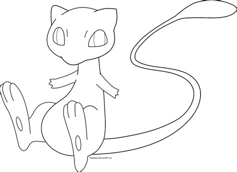 pokemon emerald coloring pages free mew pokemon lineart by emerald stock on deviantart