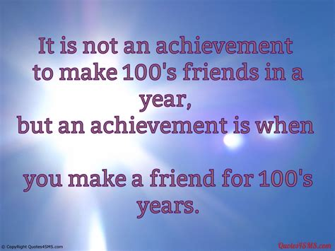 it is not an achievement to make 100 s friends in a year
