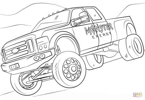 monster energy monster truck coloring page free