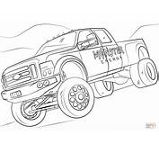 Coloriage  Monster Energy Truck Coloriages &224