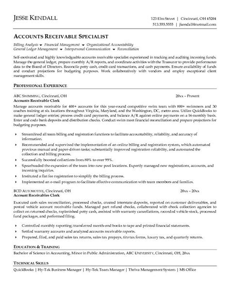 unforgettable accounts receivable clerk resume examples to stand