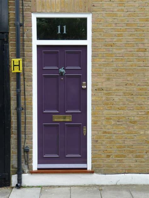 The London Door Company Auberginee Paint Colour Gloss Front Door Manufacturers