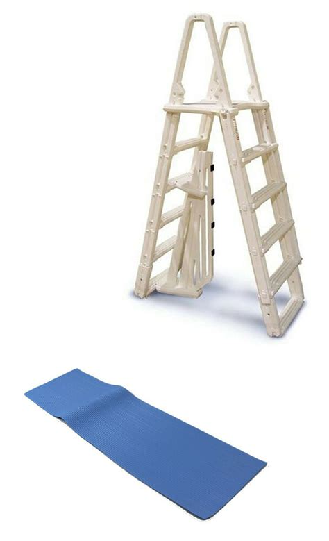 Above Ground Pool Ladder Mat - confer 7100b evolution a frame above ground swimming pool