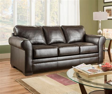 Simmons Upholstery Denton Sofa Brown Home Furniture
