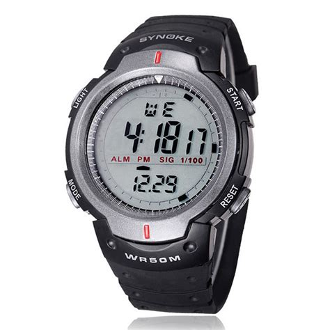 waterproof outdoor sports digital led quartz alarm