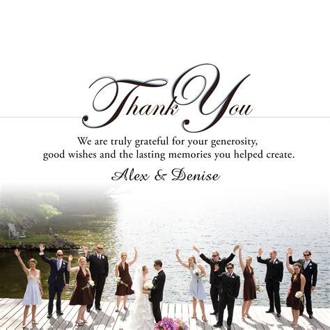 Wedding Card Thank You Wording by Wedding Thank You Cards Thank You Cards Wedding Wording