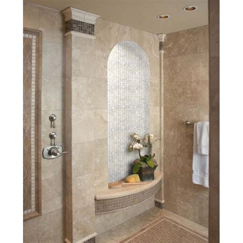 mother of pearl bathroom mirror mother of pearl shell mosaic tile shower bath mirror wall