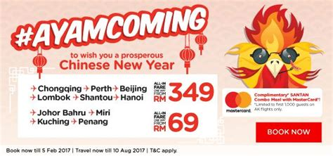 new year promo fare airasia ayam coming cny promotion free seats promotion