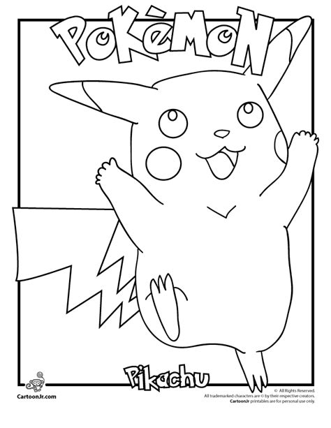pokemon pikachu coloring pages coloring home