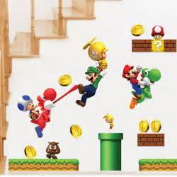 stickers muraux mario ligne des grossistes home wall kids super