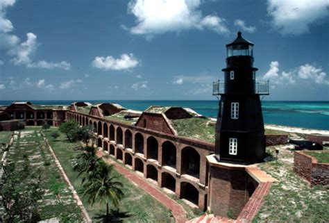 Garden Of Key Florida Memory Fort Jefferson Lighthouse Garden Key