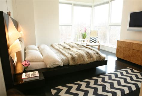 bedroom area rug ideas chevron pattern craze how to pull it at home