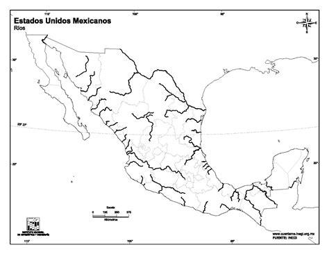 mapa de mexico con rios mapa para imprimir de m 233 xico mapa mudo de r 237 os de m 233 xico