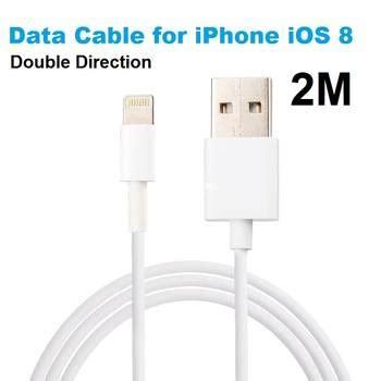 Kable Iphone oplader kable 2 meter iphone 5 6 7 8 iphone 6 oplader 2 meter langt