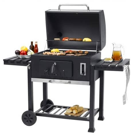 Bbq Grill by Toronto Charcoal Bbq Grill With Side Tables
