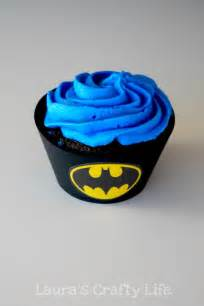 batman cupcake liners and a free printable laura s