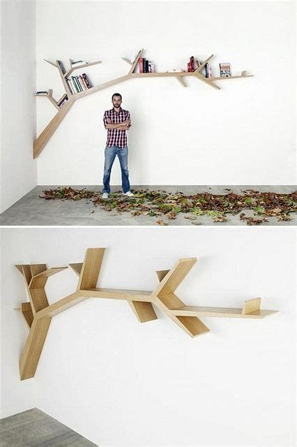 this tree branch bookshelf by mamadevo is amazing must do