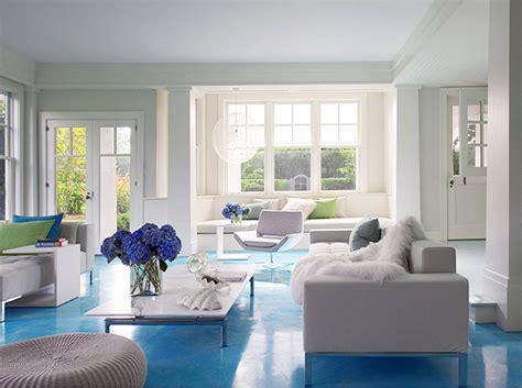 blue white living room natural scents la machine 224 habiter
