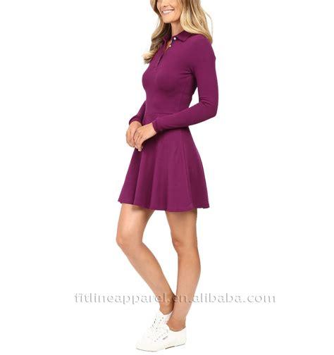 Sleeve Plain Polo Dress plain casual polo dress tennis sports polo shirt