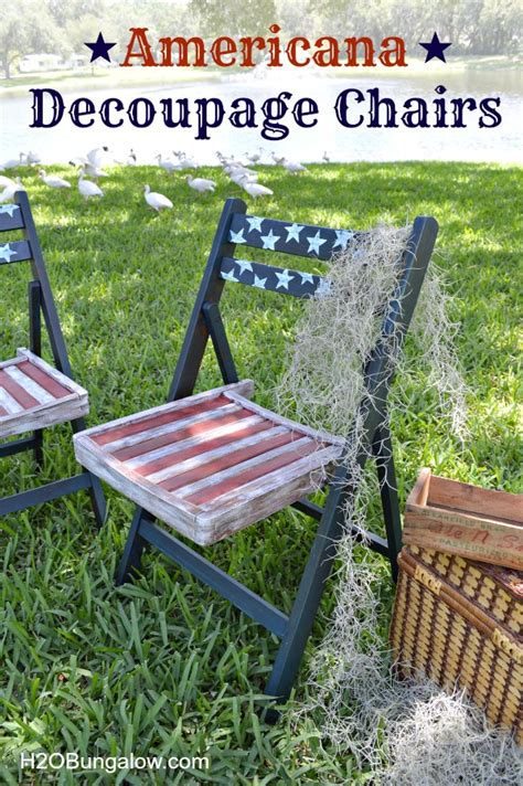 Decoupage For Outdoors - hometalk decoupage americana patio chairs