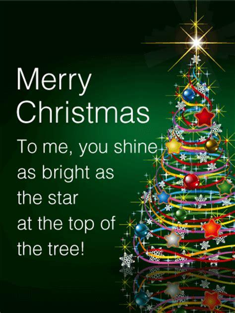 shining star christmas tree card birthday greeting cards  davia