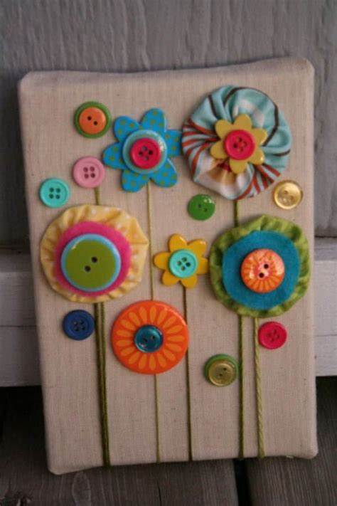 creative diy craft decorating ideas using colorful buttons