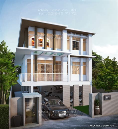 3 storey house plans the three story home plans 4 bedrooms 3 bathrooms modern style living area 339 sq m home plan