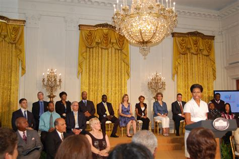gold drapes in white house first lady michelle obama recognized forest hill based