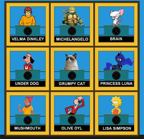 Cartoon Hollywood Squares (Pt. 2) by dflo75 on DeviantArt