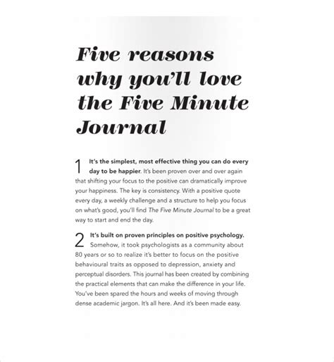 2 Five Minute Journal Templates Pdf Free Premium Templates 5 Minute Journal Template