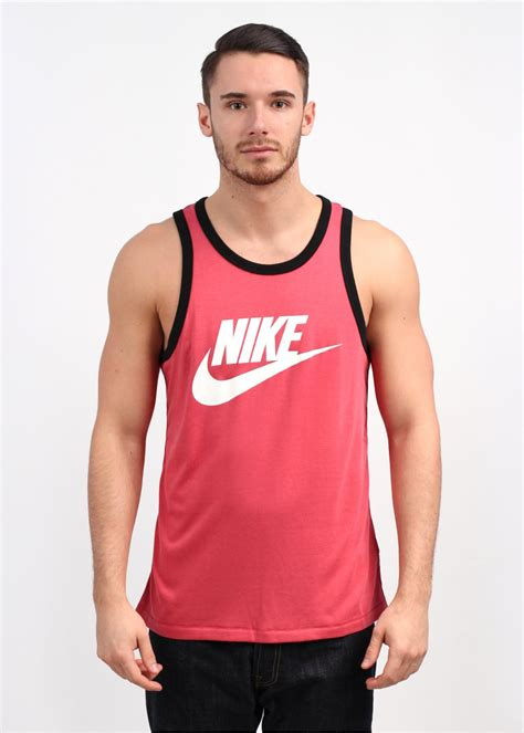 Tank Top Logo Vest Merah nike ace logo tank top light