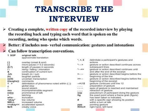 transcribing interviews for dissertation dissertation transcription