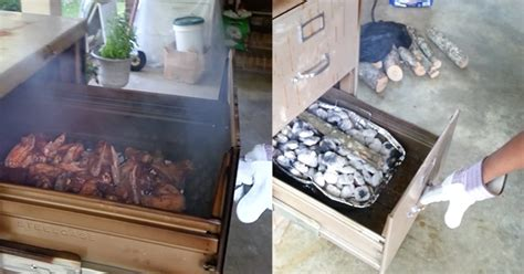 Filing Cabinet BBQ Smoker by Joshua McIntyre on Facebook