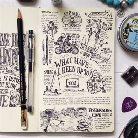doodle draw journal an journaling workbook 14 ideas para rellenar tus libretas estudio avellana