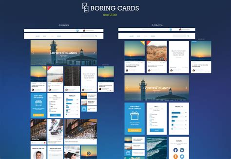 card website the best free ui kits february 2015 webdesigner depot