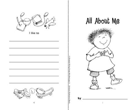 free printable all about me book from gummy lump images