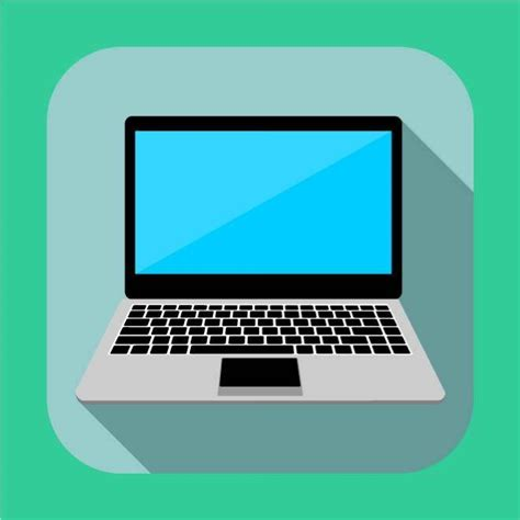 Flat P C 10 laptop flat icon vector at vectorportal