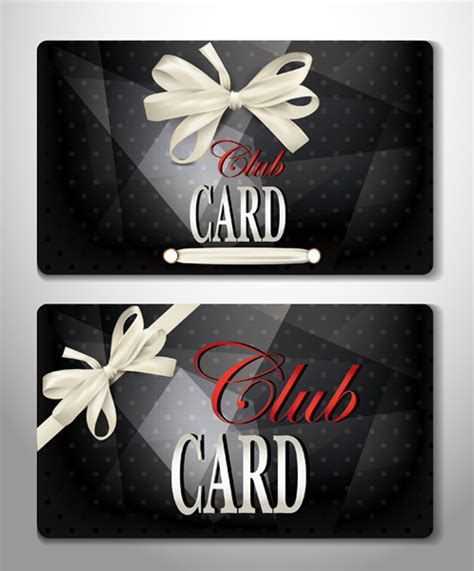 luxury club cards design elements vector free vector in