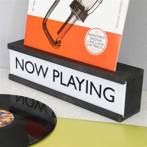 box vinyl cover personalised vinyl cover holder wooden lightbox by