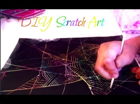 How To Make Scratch Paper With Acrylic Paint - diy scratch with acrylic paint