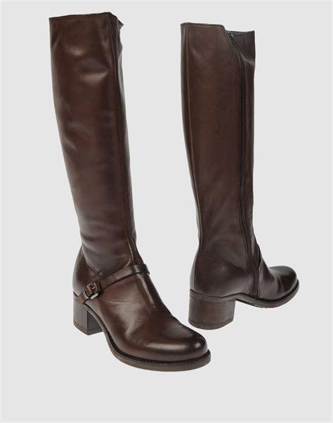 sofia tartufoli high heeled boots in brown lyst