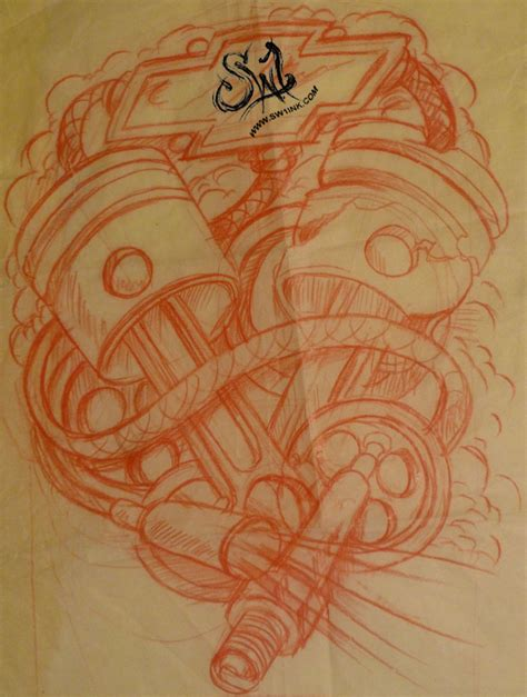 sw tattoo designs engine pistons tattoos images