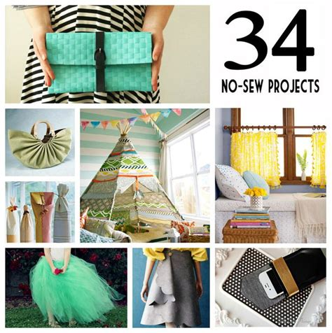 34 Awesome No Sew Projects Craft Ideas